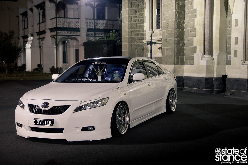 Camry On Stance 20 Quot Giovanna Mecca Matte Black On 2008