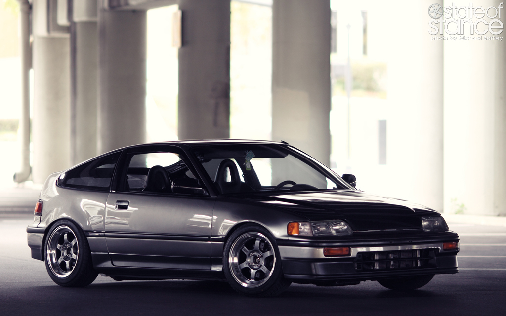 honda crx on volk te37 wheel rim